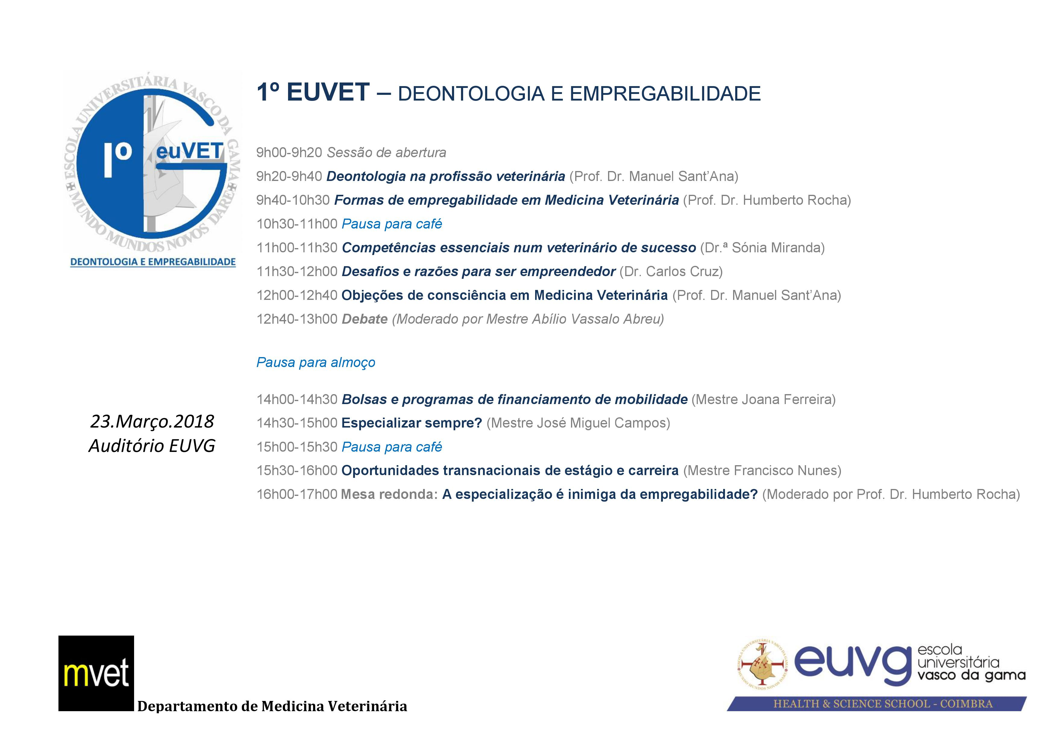 Cartaz - Workshop EUVET j